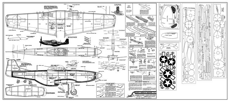 Comet P-51D Mustang model airplane plan