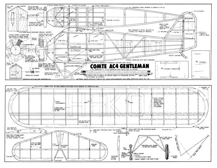 Comte model airplane plan
