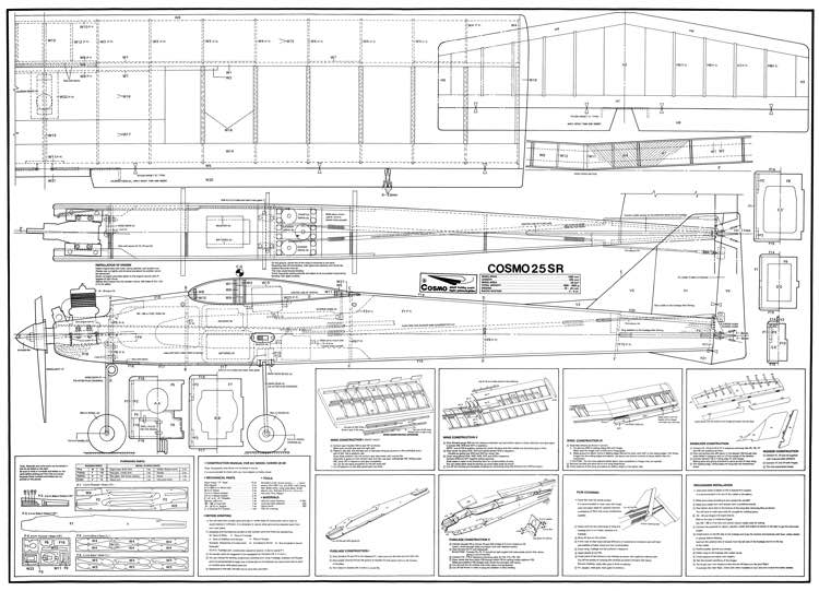 Cosmo 25 SR model airplane plan