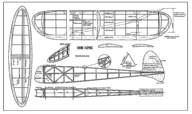 Cosmo Clipper model airplane plan