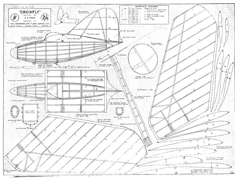 Crowfly model airplane plan