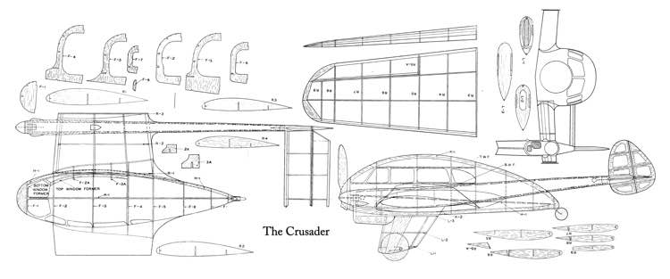 Crusader-1 model airplane plan