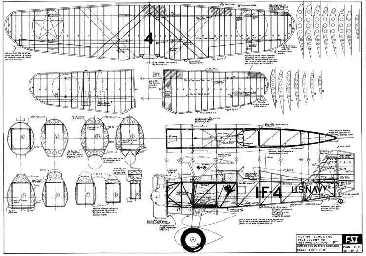 Curtiss model airplane plan