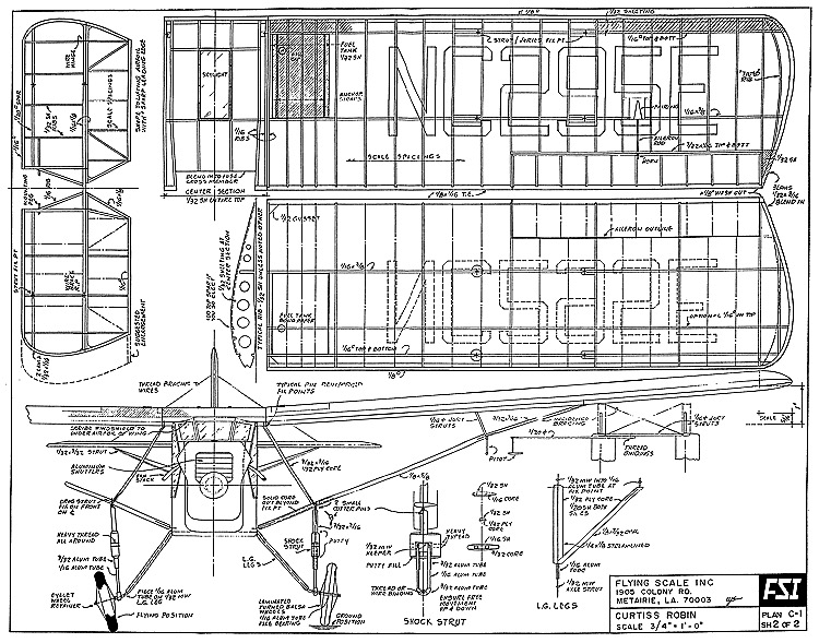 Curtiss Robin Fsi Cleaned Plans Aerofred Download Free