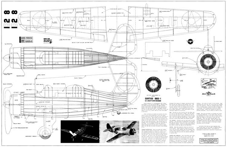 Curtiss SBC2-1 model airplane plan