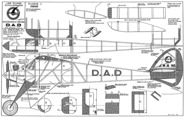 DAD 45 Olaf and Paul model airplane plan
