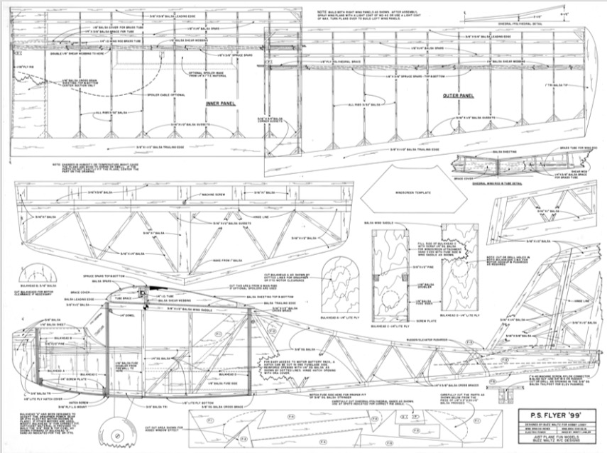 P. S. Flyer 99 model airplane plan