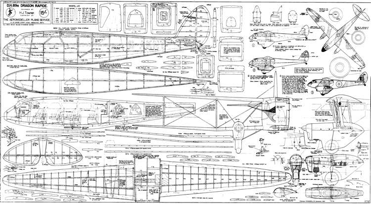 Dh 89a plans aerofred download free model airplane plans Plan rapide