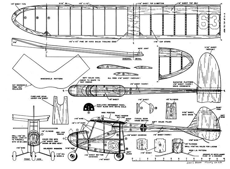 Dan'l Boom model airplane plan