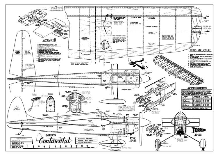 DeBolt (Demeco) Continental model airplane plan