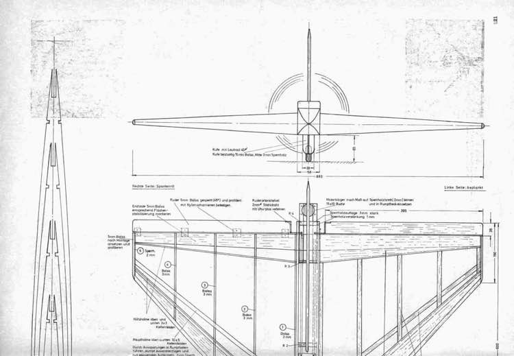 Delta H20 p1 model airplane plan