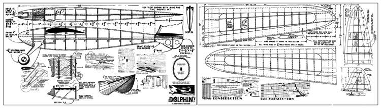 Dolphin model airplane plan