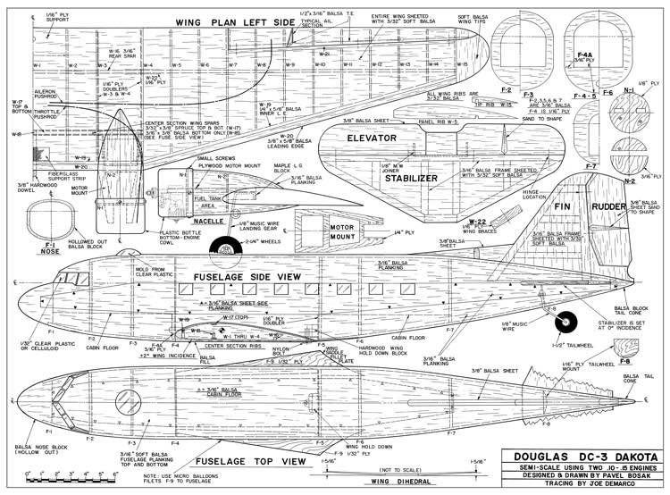 Dc3 plans aerofred download free model airplane plans.