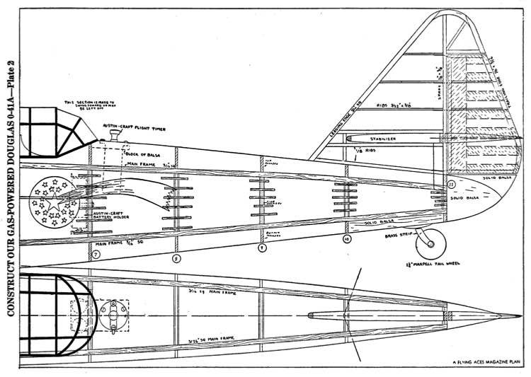 Douglas O-41a p2 model airplane plan