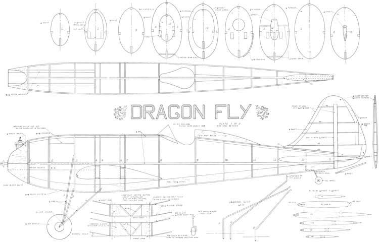 Dragon Fly 85in model airplane plan