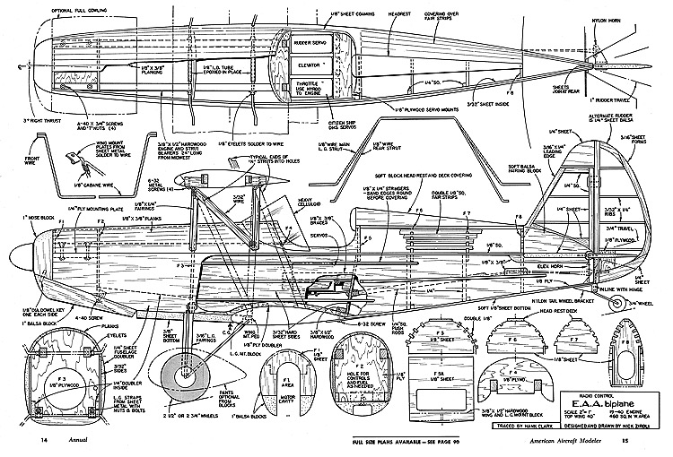 EAA Biplane-AAM-1969-Annual model airplane plan