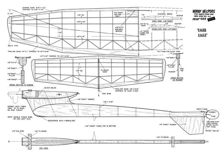 Eager Eagle-HH-559 model airplane plan