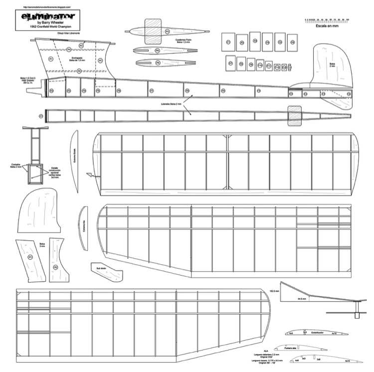 Eliminator 1952 Cranfield World Champion model airplane plan