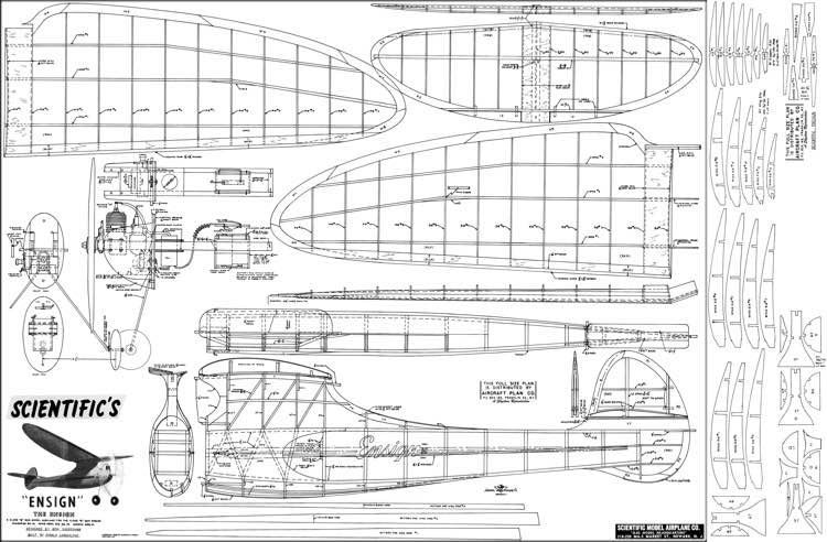 Ensign Scientific OT model airplane plan