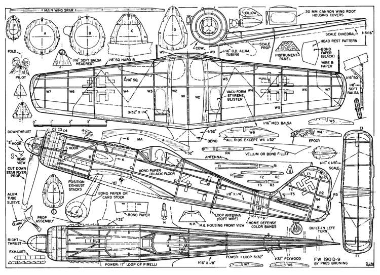 Fw190 D9 Plans Aerofred Download Free Model Airplane Plans