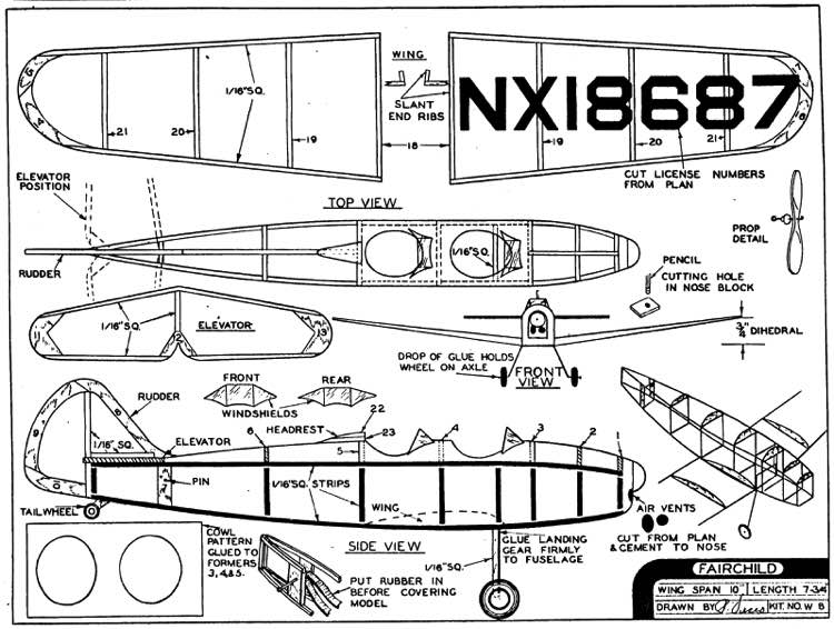 *Mustang P 51D* Plans - AeroFred - Download Free Model Airplane Plans
