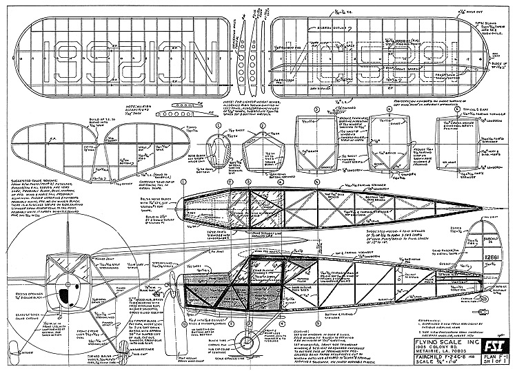 Fairchild F 24 C8 Plans Aerofred Download Free Model