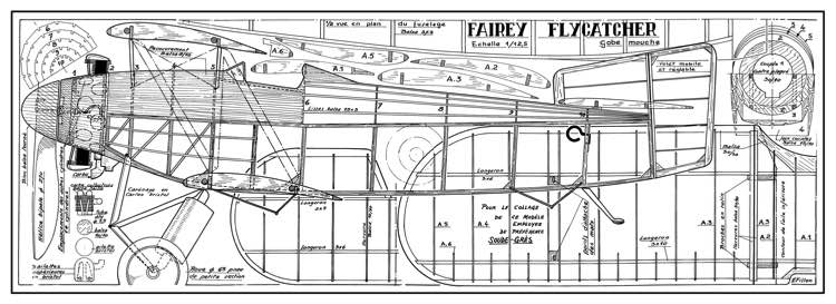 Fairey Flycatcher model airplane plan