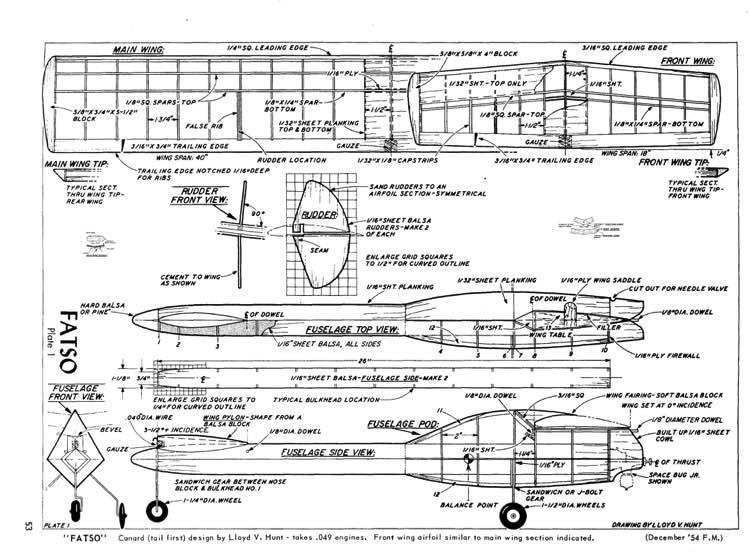Fatso model airplane plan
