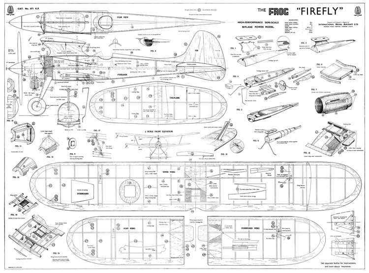 Firefly frog model airplane plan