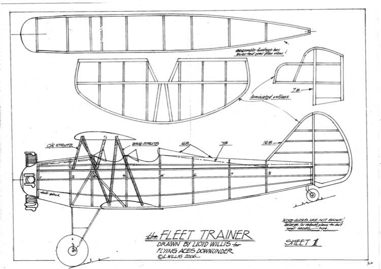 FleetTrainer model airplane plan