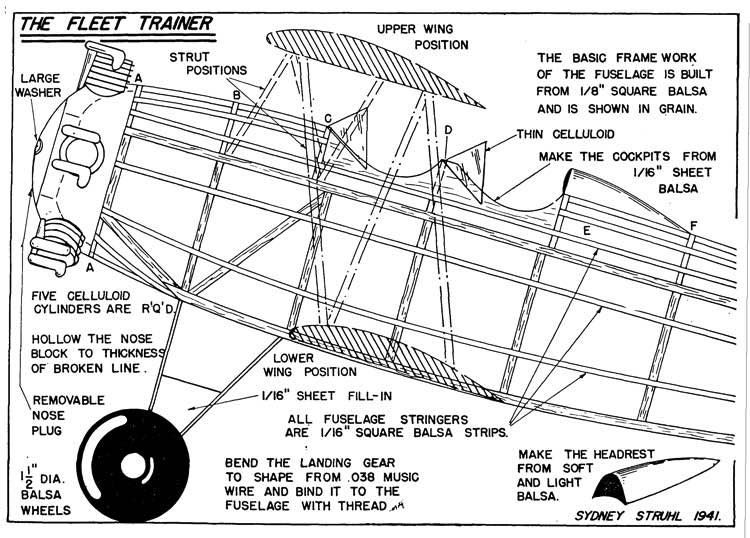 Fleet p1 model airplane plan