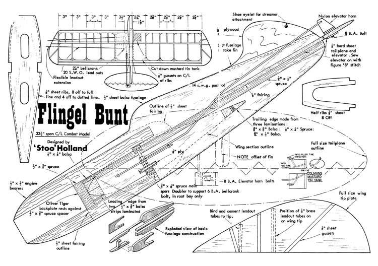 Flingel Bunt model airplane plan