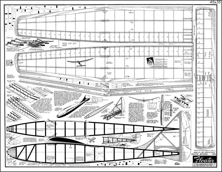 Floater model airplane plan