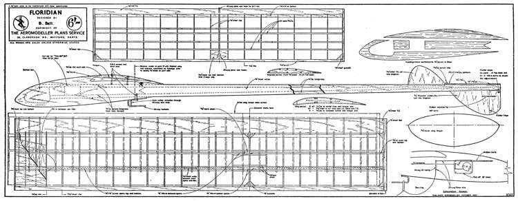Floridian A2 model airplane plan