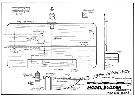 Flying License Plate model airplane plan