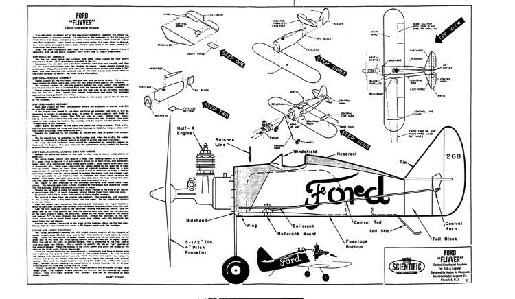Ford Flivver model airplane plan