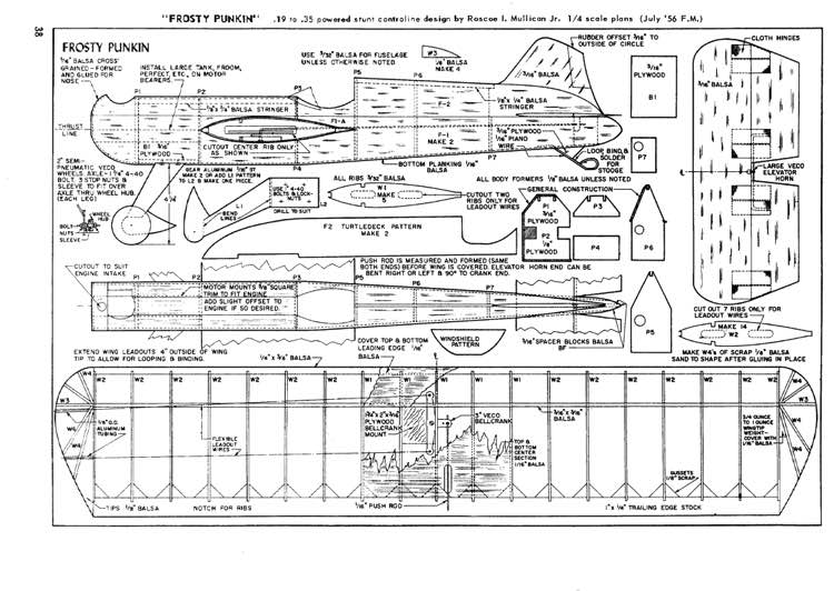 Frosty Punkin model airplane plan