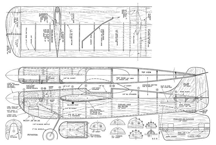 Funster 1949 model airplane plan