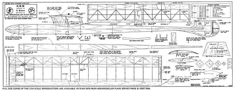 G.B.IX model airplane plan