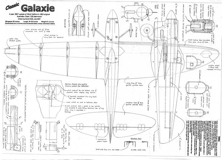 Galaxie B model airplane plan