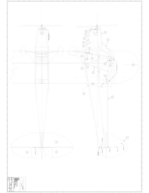 Garden Cub p1 Model 1 model airplane plan