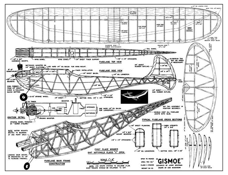 Gismoe model airplane plan