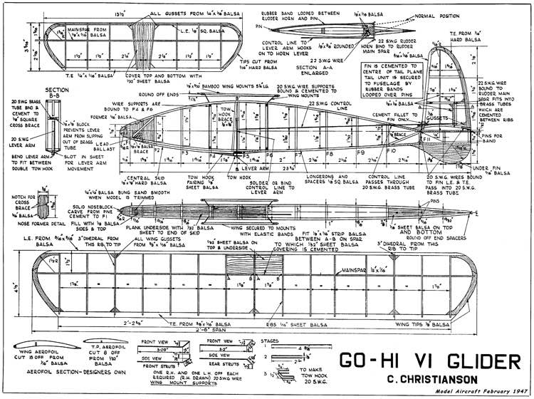 GoHi MkVI model airplane plan
