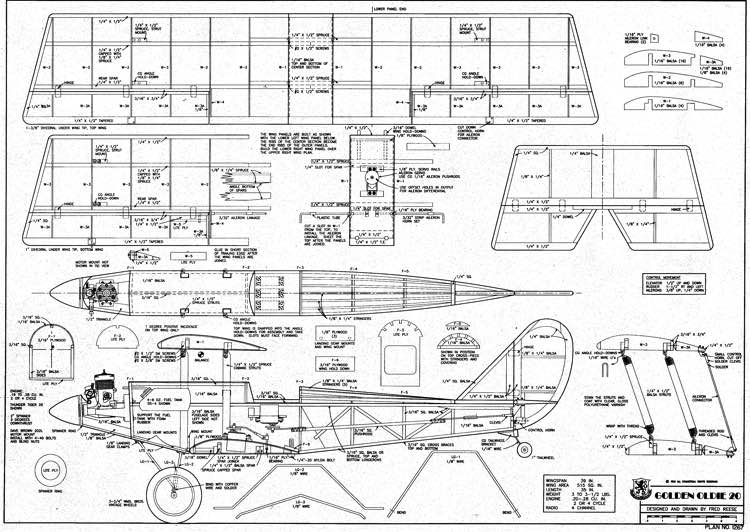 Goldenoldie 20 model airplane plan