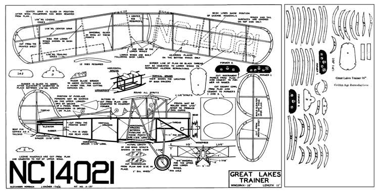 Great Lakes Trainer model airplane plan