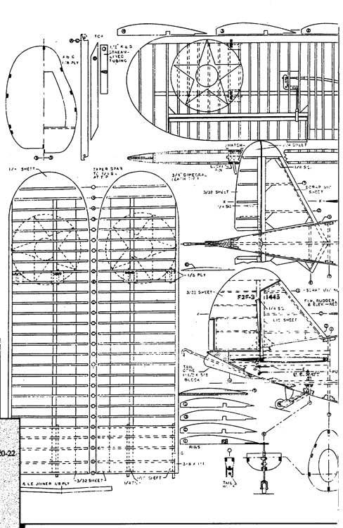 Grumman F3F 1 model airplane plan