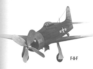 Grumman F8F-1 Bearcat model airplane plan