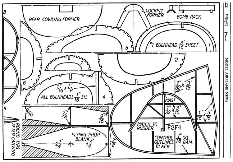 Grumman Fighter p2 model airplane plan