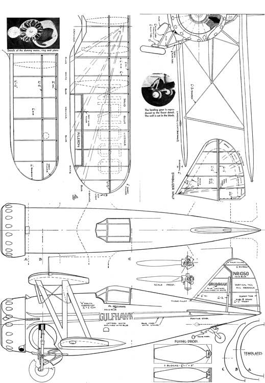 Gulfhawk model airplane plan