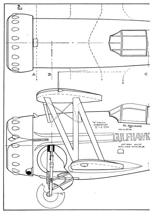 Gulfhawk p2 model airplane plan